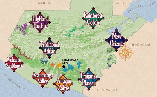 8 Coffee Growing Regions of Guatemala